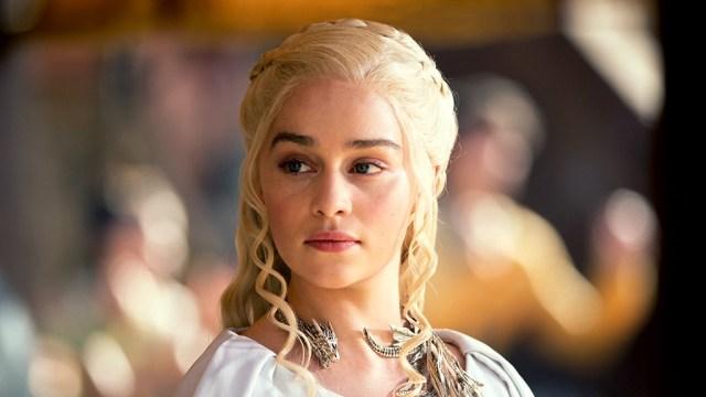 Fotografía de Emilia Clarke como Daenerys Targaryen en Game of Thrones