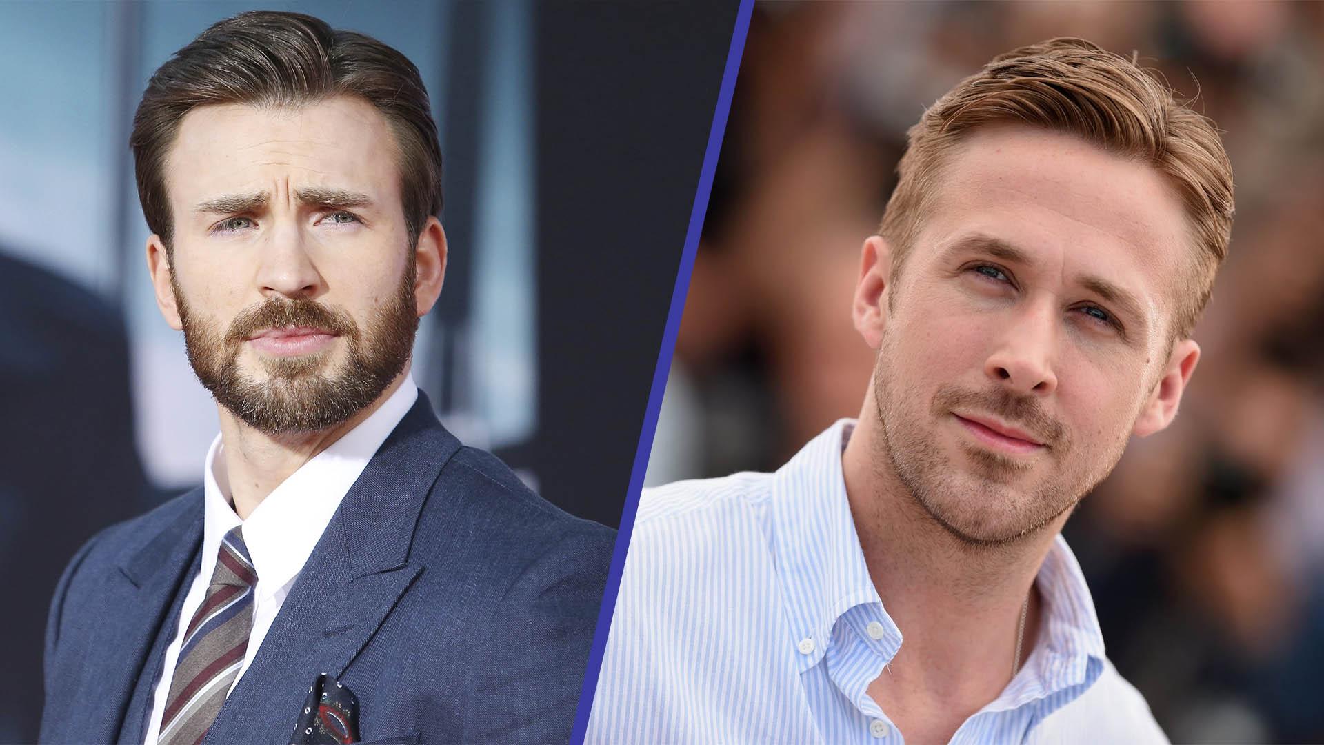 Fotografía de Ryan Gosling y Chris Evans