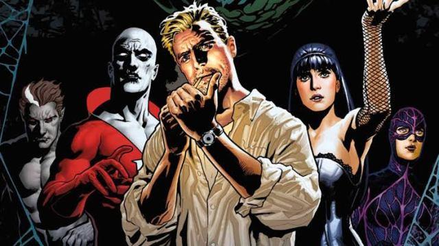 Ilustración de Justice League Dark con Constantine