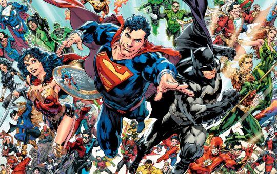 Ilustración de superhéroes de DC
