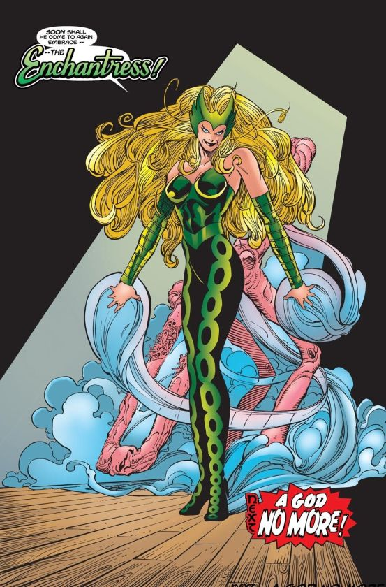 Ilustración de Enchantress en Marvel Comics