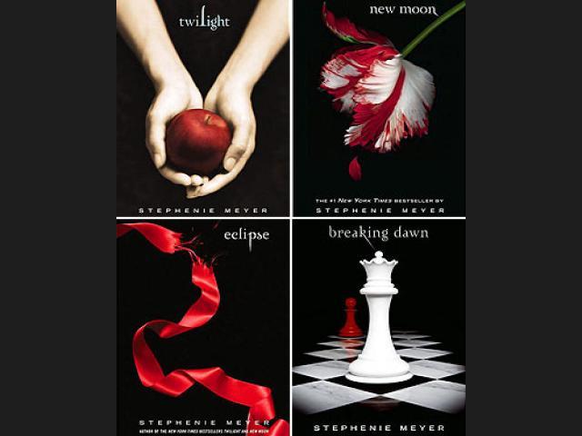 Portadas de libros de la saga Crepúsculo
