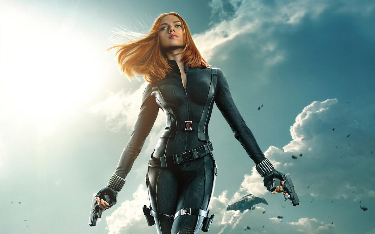 Fotografía de Scarlett Johansson como Black Widow en el UCM