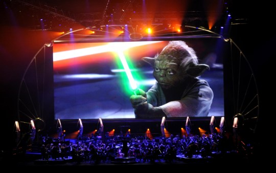 Imagen del concierto sinfónico de Star Wars en Bellas Artes