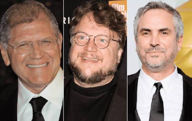 Fotografía de Robert Zemeckis, Guillermo del Toro y Alfonso Cuarón
