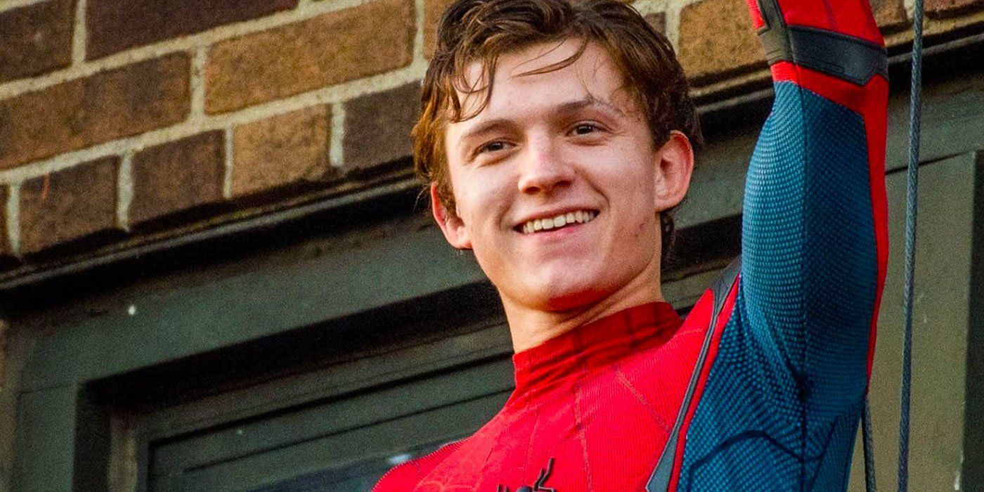 Fotografía de Tom Holland como Spider-Man