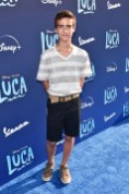 LOS ANGELES, CALIFORNIA - JUNE 17: Elias Harger arrives at the world premiere for LUCA, held at the El Capitan Theatre in Hollywood, California on June 17, 2021. (Photo by Alberto E. Rodriguez/Getty Images for Disney)