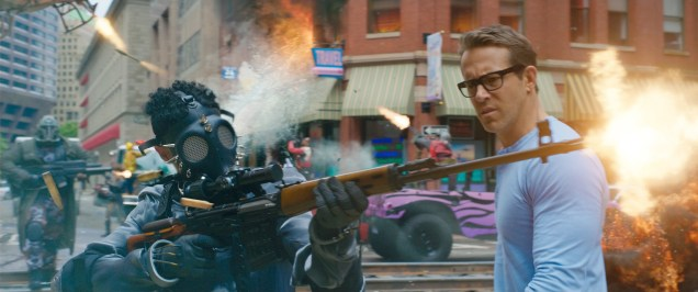 Ryan Reynolds as Guy in 20th Century Studios' FREE GUY. Courtesy of 20th Century Studios. © 2020 Twentieth Century Fox Film Corporation. All Rights Reserved.