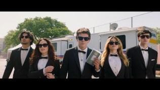 TUDUM! 2021. (L to R): Xolo Mariduena, Mary Mouser, Jacob Bertrand, Peyton List, Gianni Decenzo. Cr. Courtesy of Netflix/Netflix © 2021