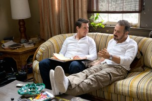 Left to right: Tom Cruise and Director Edward Zwick on the set of Jack Reacher: Never Go Back from Paramount Pictures and Skydance Productions