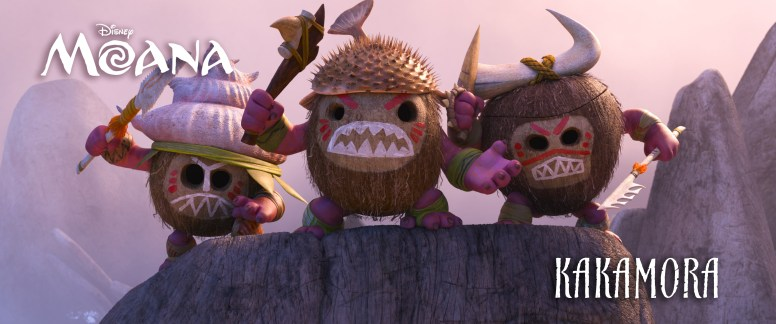 The KAKAMORA, an intense team of crazy, coconut-armored pirates who will stop at nothing to get what they want. ©2016 Disney. All Rights Reserved.