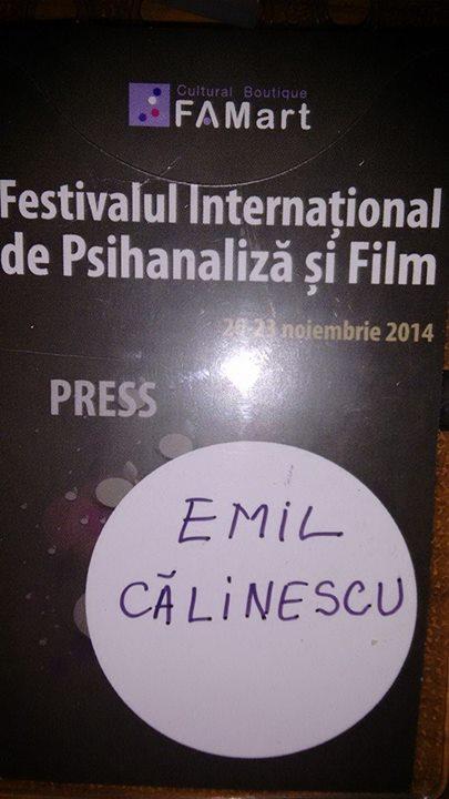 Festivalul de Psihanaliza si Film 2014