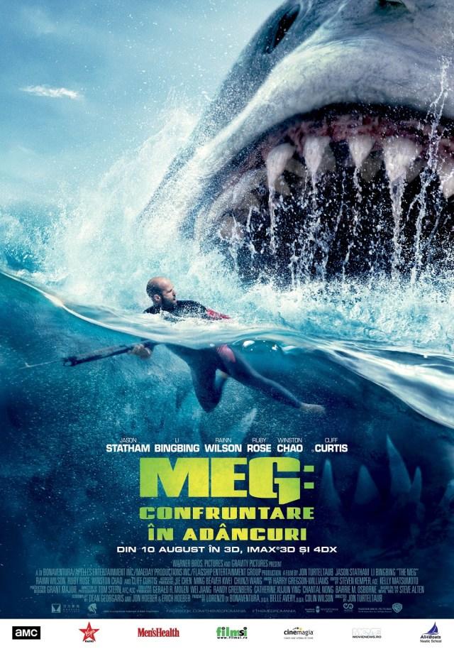 Meg: Confruntare in adancuri – Jason Statham se lupta si cu monstri