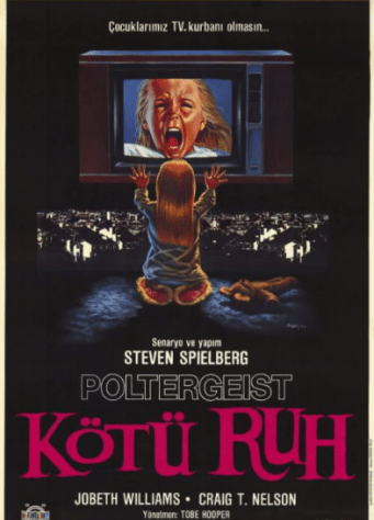 Turkish poster for Poltergeist. Artist unknown