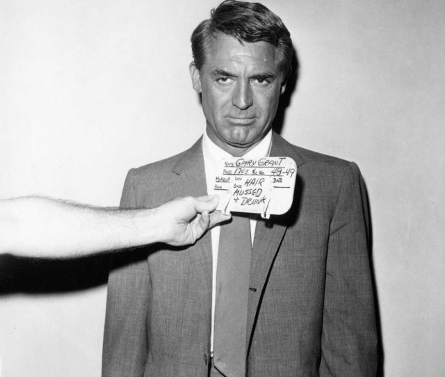 You Dont Usually Associate The Words Mussed And Drunk With Cary Grant But Here They Are During The Production Of North By Northwest