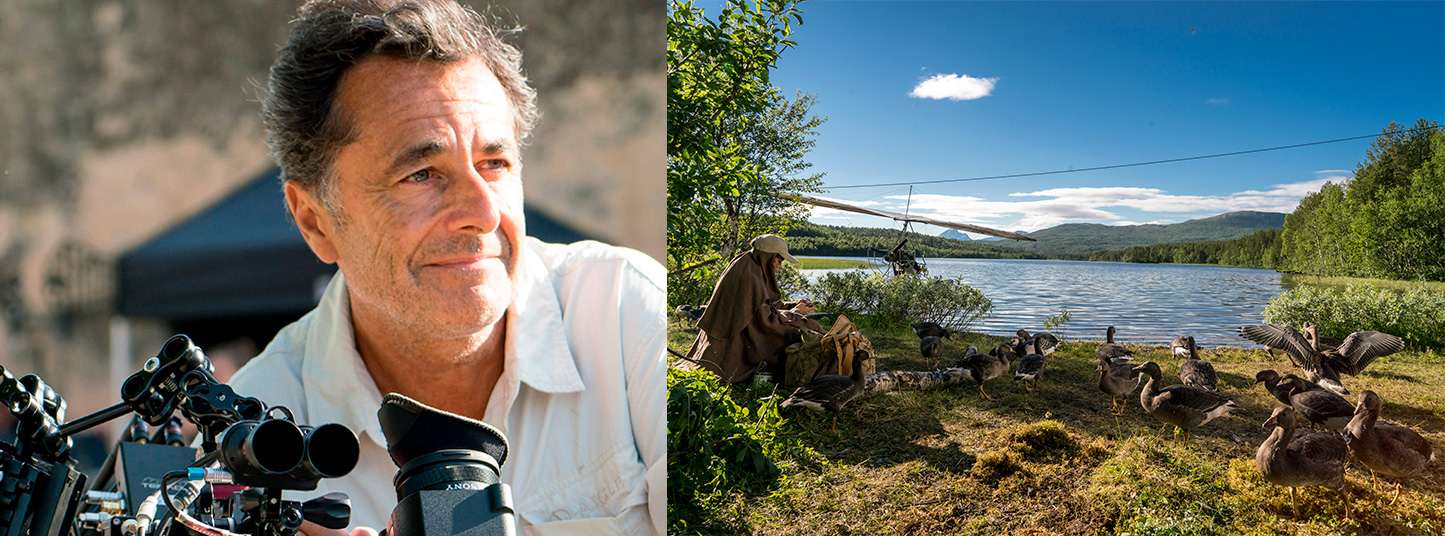 """Nicolas Vanier, director de la película """"Abre tus alas""""  un viajero enamorado de la naturaleza."""