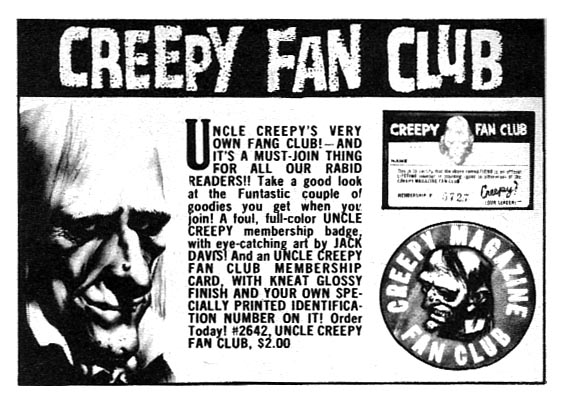Uncle Creepy Fan Club Ad