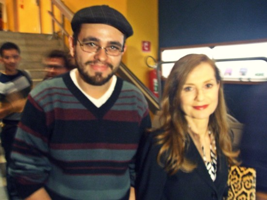 Alex Gonçalves and Isabelle Huppert