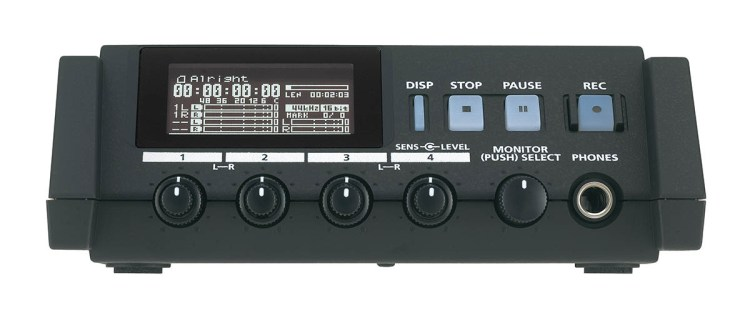 roland r 44 solid state four channel audio field recorder cinescopophilia. Black Bedroom Furniture Sets. Home Design Ideas