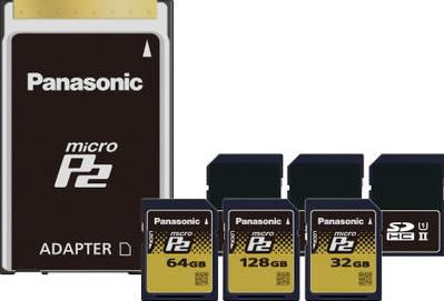 Panasonic microP2 Cards