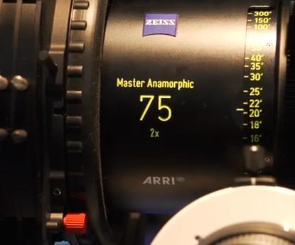 75mm ARRI ZEISS Anamorphic Lens