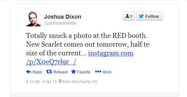 New Scarlet Tweet
