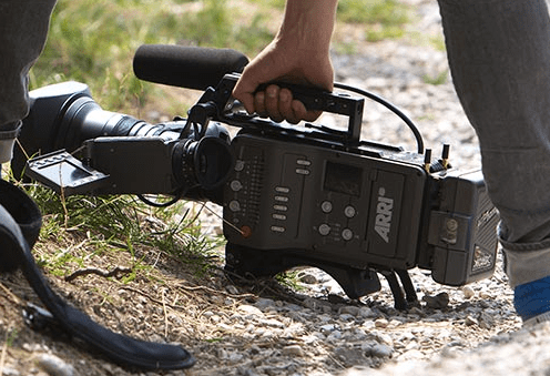 ARRI AMIRA camera on the ground