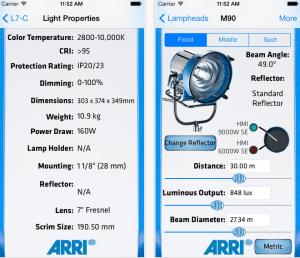 The ARRI Photometric App 2