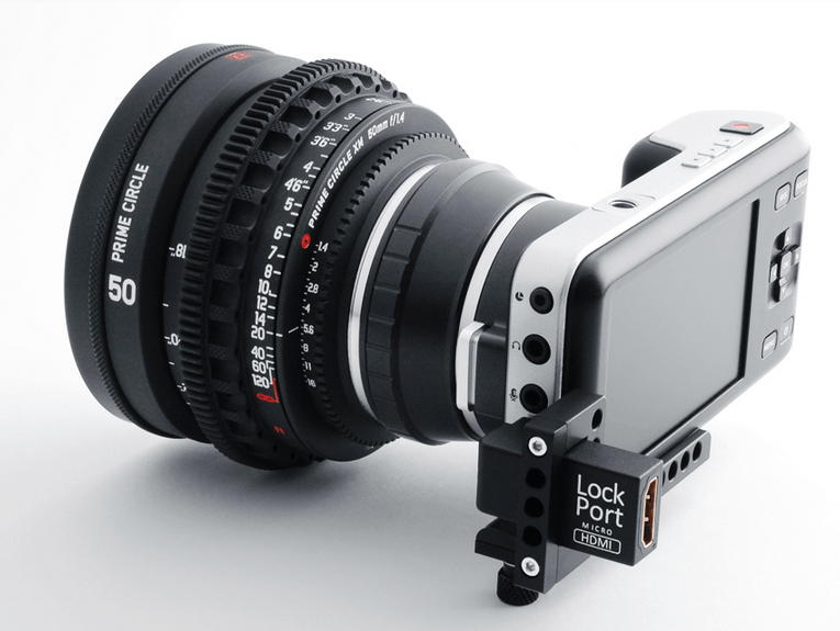 The LockPort Pocket Looks After Your HDMI on Your Blackmagic