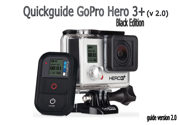 Quickguide Explaining The Settings On The GoPro Hero3 Camera