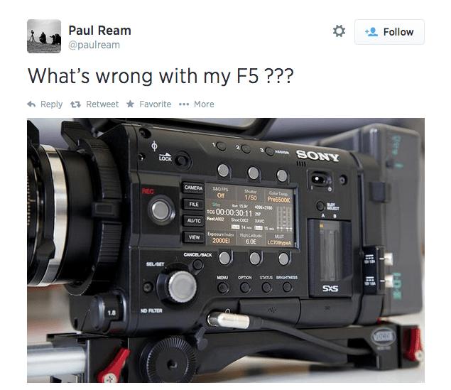 Sony F5 4K Recording