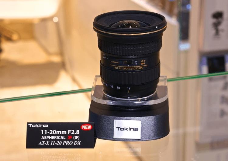 Tokina AT-X 11-20mm f:2.8 DX lens