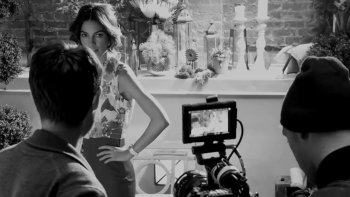 BTS with Lily Aldridge for the XOXO Spring Summer 2014 Ad Campaign from Douglas Sonders