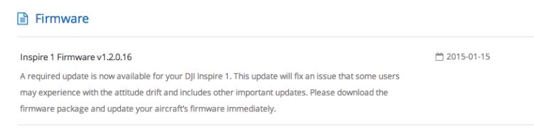 DJI Inspire 1 Attitude Update