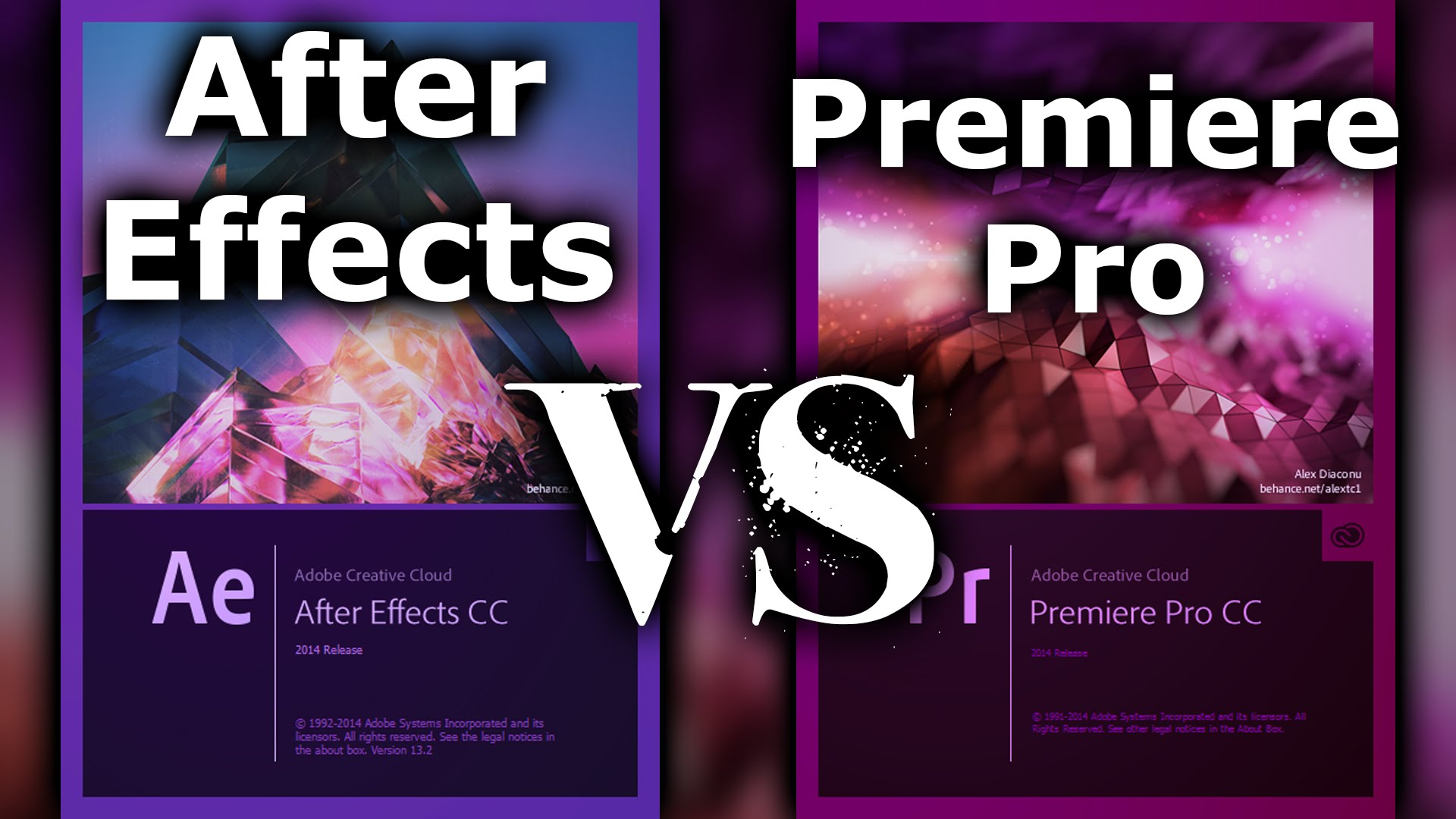 Adobe After Effects vs Adobe Premiere Pro from Surfaced Studio