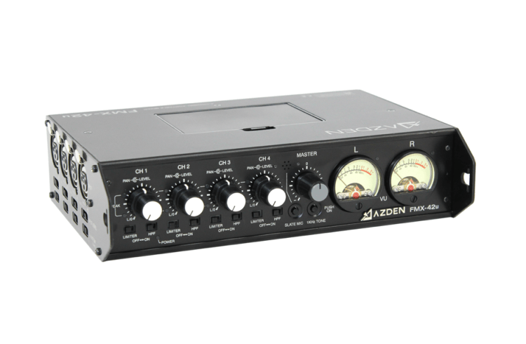 Azden FMX-42u Portable Mixer with USB Output