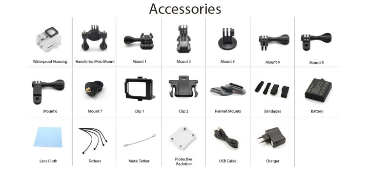 EKEN H9 Accessories