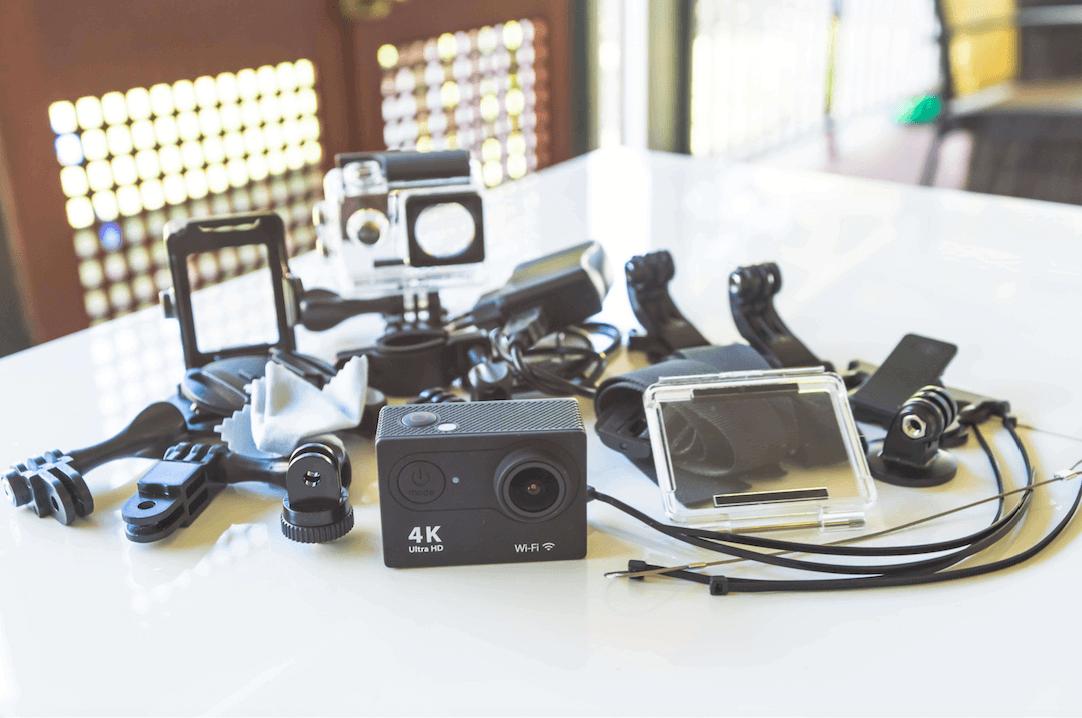 EKEN H9 and EKEN H8R Action Cameras Side By Side