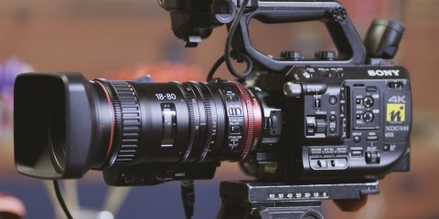 Quick Test Sony FS5 Camera With Canon CN-E 18-80mm Compact Servo Lens