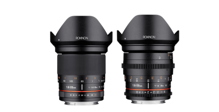 Rokinon 20mm F1.8 and 20mm T1.9 High Speed Full Frame Super-Wide ...
