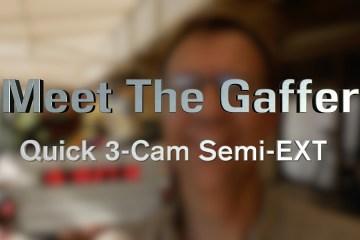 Meet The Gaffer: Quick Three Camera Semi-Exterior Lighting Set Up