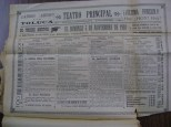 Cartel del Teatro Principal de noviembre de 1901