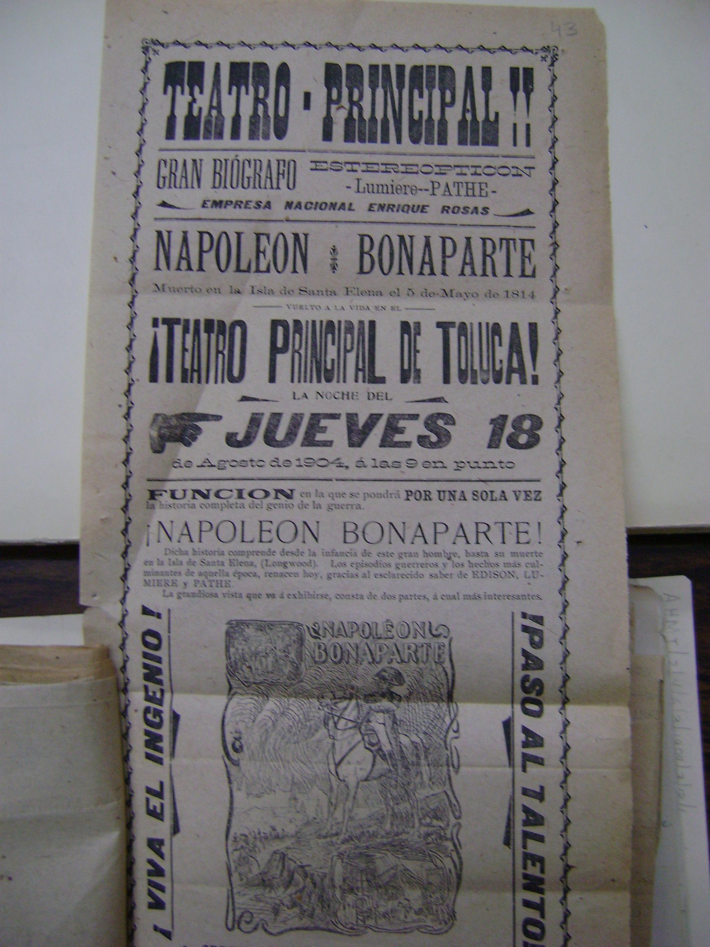 Cartel del jueves 18 de agosto de 1904