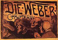 Die Weber, ilustración de Emil Orlik del libro de Hauptmann