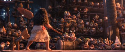 """MOANA - ON A SCALE OF ONE TO TEN – One of the Kakamora in """"Moana"""" dons the look of Baymax from 2014's Oscar®-winning feature """"Big Hero 6."""" ©2016 Disney. All RIghts Reserved."""