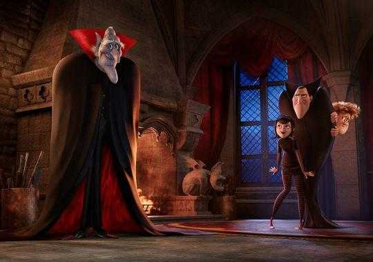 Vlad, pai de Dracula, e os personagens. Mel Brooks fará a voz do centenário pai de Drac.