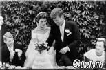 Jacqueline Kennedy wearing an Oscar de la Renta's dress for her wedding to John Kennedy