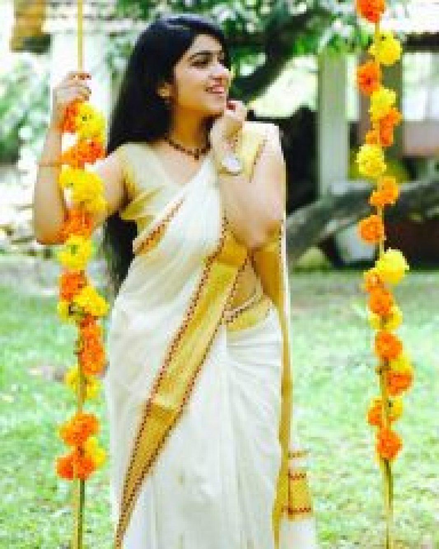 Manasa Radhakrishnan in Onam Saree
