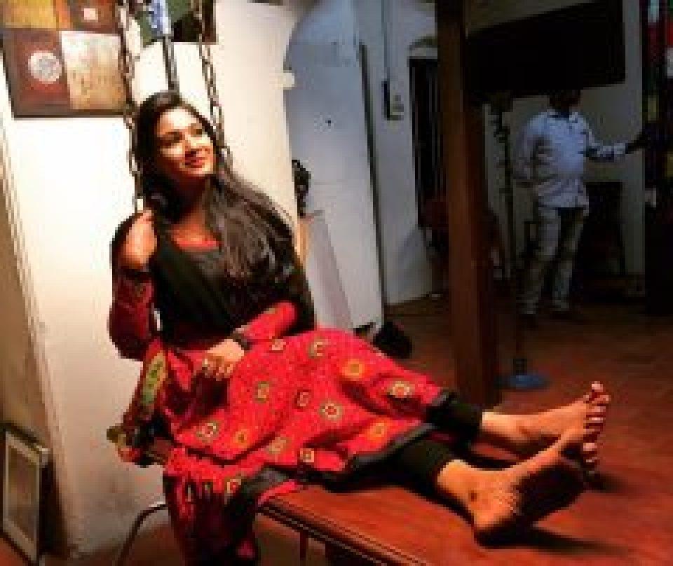 Sharanya Sundaraj in Swinging cot