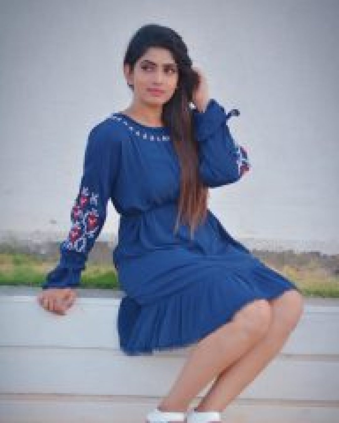 Sameera Sherief Cute in Blue